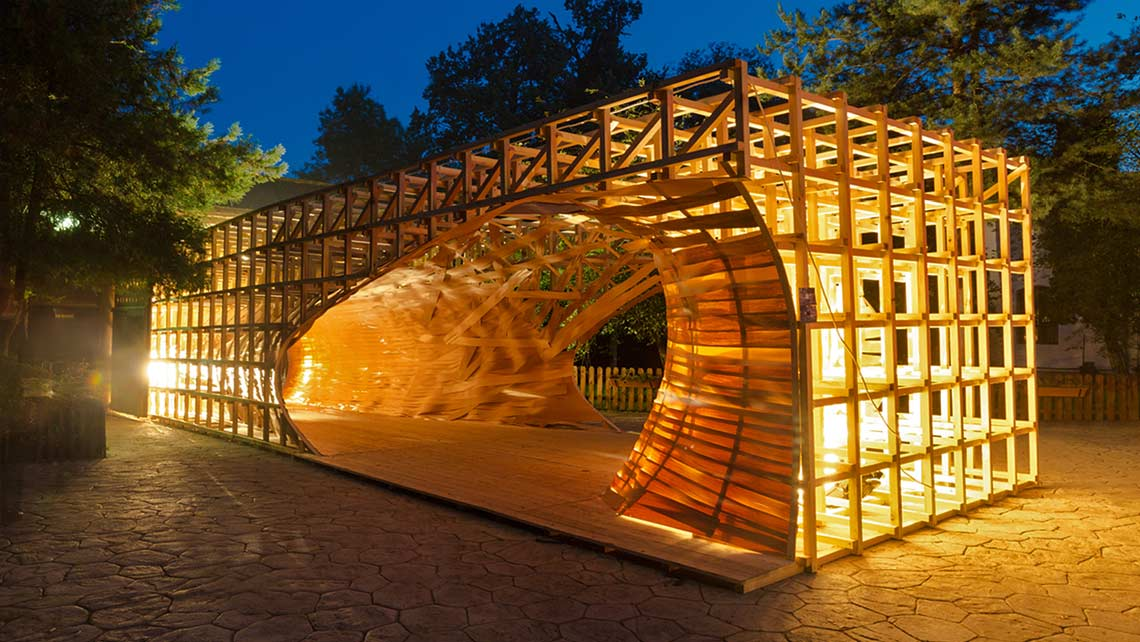 Plai festival pavilion lighting timisoara pusha petrov